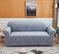 abordables -housse de canapé 1 pièce bleu poussiéreux housse de canapé housse de meuble housse souple extensible tissu jacquard spandex super fit pour canapé 1 ~ 4 coussin et canapé en forme de l, facile à