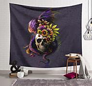 abordables -tapisserie murale art décor couverture rideau suspendu maison chambre salon décoration polyester fibre nature morte étrange crâne volant dragon fleur