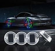 abordables -4pcs énergie solaire lampe de moyeu de roue de voiture lumières de roue chaude avec capteurs de mouvement coloré LED lumière de pneu lumières décoratives imperméables pour voiture auto motos vélos