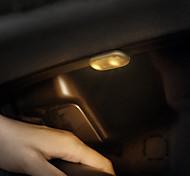 abordables -Baseus 2 pièces voiture lumière intérieure automatique toit plafond lampe de lecture magnétique LED voiture style tactile veilleuse plafonnier