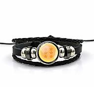 abordables -bracelets en cuir tissé rétro dragon ball, hommes femmes couples punk bracelet de manchette en corde tressée multicouche