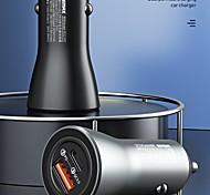 economico -remax smart qcpd 36w caricabatteria da auto a carica rapida caricabatteria da auto in lega di alluminio metallico doppia porta di uscita