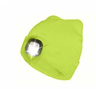 abordables -3 Rechargeable Eclairage LED LED Bonnet LED avec lumière Émetteurs Camping / Randonnée / Spéléologie Pêche Rechargeable Pratique Contrôle tactile Antidérapant Ultra léger (UL) Extérieur Blanche Noir