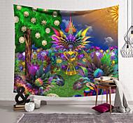 abordables -tapisserie murale art décor couverture rideau suspendu maison chambre salon décoration polyester fibre peint fleur bush arbre orchidée pavillon conception