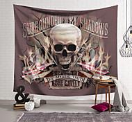 abordables -tapisserie murale art décor couverture rideau suspendu maison chambre salon décoration polyester fibre nouveauté nature morte crâne crâne flamme drapeau