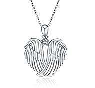 economico -Collana con ali d'angelo Collana con ciondolo ali d'angelo custode in argento sterling 925 per regali di gioielli da donna