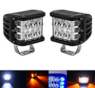 abordables -4inch 45W Side Shooter Off Road Dual Side Work Light Combo LED DRL avec fonction flash stroboscopique conduite Flood Work Light Bar pour tracteurs Bateau 4x4 SUV ATV antibrouillard