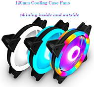 abordables -ventilateur de couverture RVB 120mm 3 ventilateurs de refroidissement à 3 broches bleu rouge blanc couleurs ventilateur de refroidissement de l'ordinateur ventilateur de radiateur