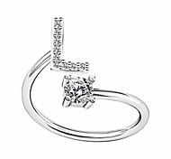 economico -anello regali dalla a alla z alfabeto anello coppia argento / oro impilabile regolabile lettera anello fascino fascia iniziale per le donne