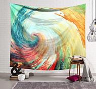 abordables -Tapisserie murale art décor couverture rideau suspendu maison chambre salon décoration polyester fibre peint spirale vague orchidée pavillon conception