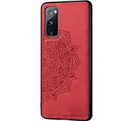 economico -telefono Custodia Per Samsung Galaxy Per retro Custodia in pelle S20 Plus S20 Ultra S20 S20 FE 5G Resistente agli urti Decorazioni in rilievo Tinta unita TPU PC