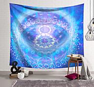 abordables -tapisserie murale art déco couverture rideau suspendu maison chambre salon dortoir décoration fibre de polyester couleur violet bleu motif motif orchidée pavillon conception