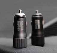 economico -caricabatteria da auto remax qc3.0 caricabatteria da auto in lega di alluminio metallo doppia porta uscita 2.4a ricarica rapida