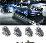 abordables -lumières de roue de pneu de voiture valve d'air de pneu de roue de voiture, lumière de chapeau de lampe de moyeu avec capteurs de mouvement buse de gaz de lumière de pneu menée colorée, pour des