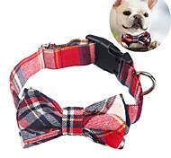 abordables -collier de chien avec noeud papillon - conception ajustable 100% coton fait à la main - colliers de chien à la mode mignons avec nœuds papillon pour petits chiens de taille moyenne - motif rayé à