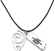 economico -naruto necklace leaf necklace akatsuki kakashi itachi village symbol logo double brand pendant