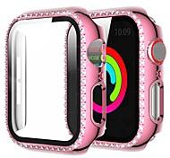 economico -Custodie Per Apple  iWatch Apple Watch Serie 6 / SE / 5/4 44 mm / Apple Watch Serie  6 / SE / 5/4 40mm / Apple Watch Serie  3/2/1 38 mm TPU Proteggi Schermo Custodia per Smartwatch  Compatibilità