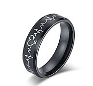economico -anelli battito cardiaco per le coppie ti amo di più ti amo gli anelli di promessa più abbinati set di fedi nuziali per lui e per lei con scatola in acciaio inossidabile al titanio vestibilità comoda