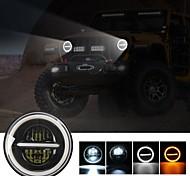 abordables -1 pièces phare LED avec anneau halo phare de remplacement LED voiture moto phare DRL pour moto automobile