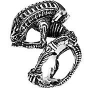abordables -bagues de bijoux de mode pour hommes, bague animale de conception extraterrestre en acier inoxydable 316l pour hommes (13)