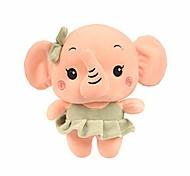 abordables -- peluche dessin animé mignon couple éléphant jouets en peluche pour la déco de chambre de bébé (fille)