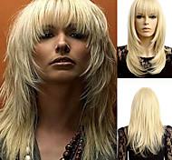 abordables -Perruque de cosplay Perruque Synthétique Ondulé Ondulé Perruque Moyen Blond Cheveux Synthétiques Blond
