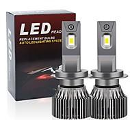 abordables -2pcs 9-32V phares de voiture H1 H4 LED H7 H11 9005 9006 HB3 HB4 9012 16800lm ATUO lampe pour phare de voiture ampoules LED super lumineuses
