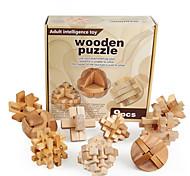 economico -Modellini di legno Rompicapo Puzzle 3D di legno Puzzle 3D a incastro Burr Puzzle compatibile Legno Legoing Test d'intelligenza Unisex Giocattoli Regalo / 14 Anni e oltre / Per bambini