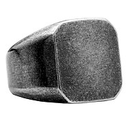 abordables -Anneaux de motard carrée en acier inoxydable pour hommes mat brossé simple bague en argent antique solide taille 7
