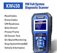 abordables -Konnwei kw450 obdii lecteur de code de scanner lecteur de défaut de moteur effacer / réinitialiser les codes de défaut scanner de diagnostic pour vw audi skoda
