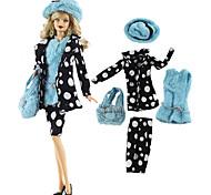 abordables -Jupe de poupée Robes et Jupes Costumes Mode Etoffe non tissé Tulle Dentelle Tissu Tissu de coton Tissu Denim Jouet fait main pour les cadeaux d'anniversaire de fille