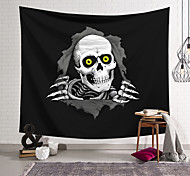 abordables -tapisserie murale art décor couverture rideau suspendu maison chambre salon décoration fibre de polyester crânes noirs et blancs percés de conception lanting