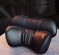 abordables -Oreiller de cou de voiture baseus oreillers d'appui-tête en cuir pu mémoire coton auto repose-cou coussin coussin voyage cou appui-tête accessoires noir