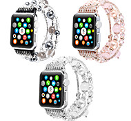 abordables -1 pièces Bracelet de Montre  pour Apple  iWatch Conception de bijoux PC Sangle de Poignet pour Apple Watch Series 6 / SE / 5/4 44 mm Apple Watch Series 6 / SE / 5/4 40mm Apple Watch Series 3/2/1 38