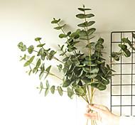 abordables -1 pièce plantes artificielles feuilles décoration de la maison simulation eucalyptus feuilles affichage de fête de mariage