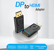 economico -vention dp adattatore compatibile con hdmi 4k dp maschio a compatibile con hdmi femmina convertitore audio video per pc laptop proiettore display port a adattatore compatibile con hdmi 1080p