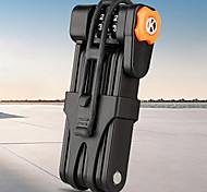 economico -lucchetto pieghevole per bici combinazioni ripristinabili a 4 cifre ad alta sicurezza, catena pieghevole lucchetto pieghevole in acciaio legato per impieghi gravosi con staffa di montaggio, apertura