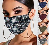 abordables -2 pièces masques pour femmes printemps et été nouveaux masques de bijoux en strass diamant chaud masques quotidiens