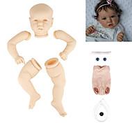 abordables -22 pouce Poupée Reborn Toddler Kit de poupée bébé à peindre Kit de peinture professionnelle Bébés Garçon Saskia Fabrication à la main Tête de disquette Pas de cils, cheveux, couleur chair Tissu