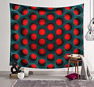 abordables -Tapisserie murale art déco couverture rideau suspendu maison chambre salon dortoir décoration polyester fibre nature morte motif noir trou rouge