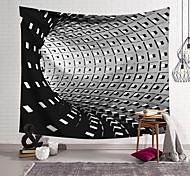 abordables -tapisserie murale art déco couverture rideau suspendu maison chambre salon dortoir décoration polyester fibre nature morte moderne noir et blanc tunnel géométrique