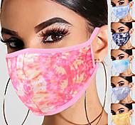 economico -Maschere traspiranti tie-dye da 5 pezzi maschere lavabili maschere unisex di vita quotidiana