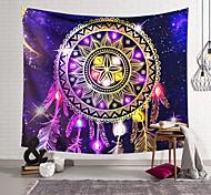 abordables -mandala bohème tapisserie murale art décor couverture rideau suspendu maison chambre salon décoration boho hippie indien polyester psychédélique capteur de rêves cristal ciel