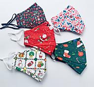 economico -Maschera natalizia in cotone da 3 pezzi per uomini e donne adulti maschera stampata in cotone lavabile antipolvere traspirante caramelle alce natalizie