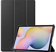 economico -telefono Custodia Per Samsung Galaxy Integrale Samsung Galaxy Tab S7 T870 / 875 Samsung Galaxy Tab A7 2020 T500 / 505 Resistente agli urti Origami Tinta unita pelle sintetica