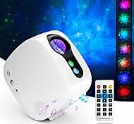 abordables -Laser starry sky light projecteur lampe de projection nébuleuse colorée lune avec lecteur de musique bluetooth télécommande sans fil