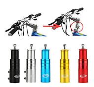 abordables -tige de vélo riser vélo fourche tige extender vélo guidon élévateur tête haute adaptateur adapté pour VTT, vélo de route, vtt, bmx, fixie (alliage d'aluminium, réglable, noir)