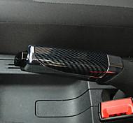 economico -universale antiscivolo durevole car styling freno a mano copre manica custodia in abs parcheggio impugnature freno a mano adesivi pad decorazione auto