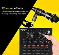 economico -interfaccia audio v8 scheda audio usb webcast audio microfono scheda audio live usb bluetooth funzione esterna per pc telefono