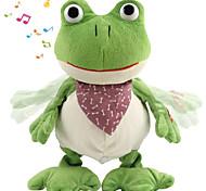 abordables -Animal en peluche Peluches Parlant Peluches Poupées en peluche Grenouille En chantant Marche Pluche Coton Croaking Frog Jeu imaginatif, bas, grands cadeaux d'anniversaire fournitures de faveur de fête